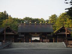 札幌その6、北海道神宮そして帰路はANA1712便