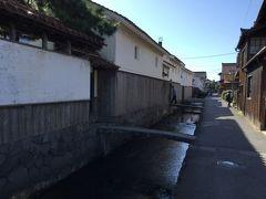 鳥取県の倉吉市の赤瓦と白壁