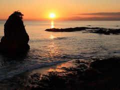 夕日を見に立石公園(神奈川県横須賀市)へ・・・