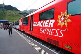 スイス3大明峰とロマンティック街道の旅 7.氷河特急に乗りハイジの村をハイキング