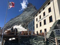 スイス アルプスの絶景とパリ、ウィーン観光18日間④-5 ヘルンリ小屋の先 マッターホルン登山口まで