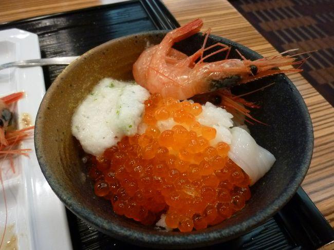小樽もおいしいけど、函館もおいしそう。空港から市内まで近いし。<br />週末2泊3日で関西から函館一人旅にいってきました。<br />今回は温泉とお寿司を楽しみました。<br /><br />最終日 ホテルでのんびりして、もう一度朝市へ