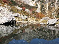 氷河公園の天狗池へ登山 その3.天狗池、紅葉、槍ヶ岳 2019年10月