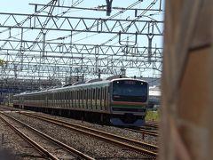 東海道線の試運転電車-台風19号通過後