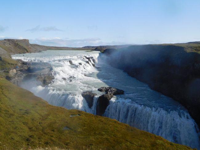 """2019/8/26(月)~9/6(金)の10泊12日でアイスランド&デンマークに行ってきました。アイスランドを一周ドライブ+経由地のコペンハーゲン観光です。6月以来しばらく旅行してなかったので、たっぷりと夏休みです♪<br /> 早くもいよいよアイスランド最終日になりました。本旅行記では、アイスランドで最もポピュラーな観光地、ゴールデンサークル(ゲイシール、グトルフォス、シンクヴェトリル国立公園)を記載しています。デティフォスのスケールもすごかったけど、グトルフォスのスケールもすごいです。地球の割れ目(ギャウ)もあちこちで見ることができたけど、【世界遺産】シンクヴェトリル国立公園は一番多く見られる場所なんでしょう。ホント、アイスランドの大自然は言葉に尽くせない素晴らしさです!<br /><br /><旅程>(◆は本旅行記)<br />◇8/26(Mon):成田→コペンハーゲン<br />◇8/27(Tue):コペンハーゲン→ケフラヴィーク→ブルーラグーン→レイキャビク(約70km)<br />◇8/28(Wed):レイキャビク→アークレイリ(約400km)<br />◇8/29(Thu):アークレイリ→ダイヤモンドサークル観光(ゴーザフォス、デティフォス、ミーヴァトン湖周辺)→ミーヴァトン(約200km)<br />◇8/30(Fri):ミーヴァトン→へプン(約400km)<br />◇8/31(Sat):へプン→氷河&南海岸観光(レイニスファラ)→ヴィーク(約300km)<br />◇9/1(Sun):ヴィーク→南海岸観光(ディルホゥラエイ、スコガフォス、セーリャランスフォス)→シークレットラグーン→ゲイシール(約200km)<br />◆9/2(Mon):ゲイシール→ゴールデンサークル観光(ゲイシール、グトルフォス、シンクヴェトリル国立公園)→ケフラヴィーク(約150km)<br />◇9/3(Tue):ケフラヴィーク→コペンハーゲン、コペンハーゲン観光<br />◇9/4(Wed):コペンハーゲン観光<br />◇9/5(Thu):コペンハーゲン観光、コペンハーゲン→<br />◇9/6(Fri):成田着<br /><br /><ホテル><br />◇8/26(Mon) コペンハーゲン(Crowne Plaza Copenhagen Towers)<br />◇8/27(Tue) レイキャビク(Fosshotel Lind)<br />◇8/28(Wed) アークレイリ(Hotel Kea by Keahotels)<br />◇8/29(Thu) ミーヴァトン(Icelandair Hotel Myvatn)<br />◇8/30(Fri) へプン(Hotel Edda Hofn)<br />◇8/31(Sat) ヴィーク(Hotel Dyrholaey)<br />◇9/1(Sun) ゲイシール(Hotel Geysir)<br />◆9/2(Mon) ケフラヴィーク(BB Hotel Keflavik Airport)<br />◇9/3(Tue) コペンハーゲン(Mercur Hotel)<br />◇9/4(Wed) コペンハーゲン(Mercur Hotel)<br /><br /><飛行機><br />・8/26(Mon) NRT11:10→CPH15:30(SAS:SK984)<br />・8/27(Tue) CPH8:30→KEF9:45(SAS:SK595)<br />・9/3(Tue) KEF10:30→CPH15:35(SAS:SK596)<br />・9/5(Thu) CPH15:45→NRT9:35+1(SAS:SK983)<br />※2019/3/12予約、182,010円/人、HIS Webサイトにて<br /><br /><その他の事前予約><br />・レンタカー:8/27(Tue)10:00~9/3(Tue)10:00、56,435円、コンパクト、Europcarで予約<br />・ブルーラグーン:8/27 12:00~13:00でComfort(入場料、タオル、ドリンク1杯)をWEB予約(23,980isk=21,997円)<br />・SIMカード: """"Vodafone イギリス他ヨーロッパ各国対応 500MB*10日チャージ済み 500MB*10日間もしくは10回繰返利用可能 """" amazonで購入(1950円)"""