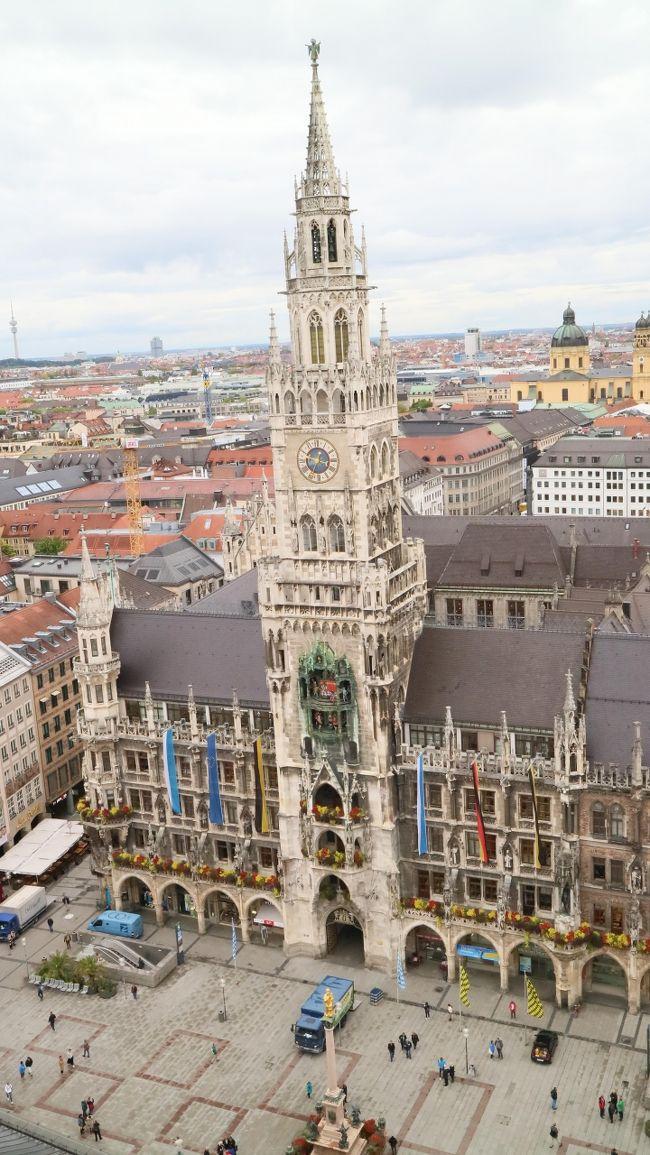 9月25日 成田空港からカタール航空でドーハ乗換でフランクフルトへ。<br />フランクフルトに3泊し、市内観光とライン川クルーズなどを体験、<br />その後ドイツの新幹線 ICEでミュンヘンに移動、ミュンヘンにも3泊。<br />オクトーバーフェスト中なので観光とビールを堪能し、ミュンヘンから<br />ドーハ空港乗換で成田空港に帰国。<br /><br /><br />9月25日 22:20 QR807便で成田空港発<br />9月26日 03:50 カタール ハマッド国際空港着<br />     08:05 QR067便でフランクフルト空港へ<br />9月27日 フランクフルト観光<br />9月28日 ライン川クルーズ<br />9月29日 フランクフルトからミュンヘンに移動<br />9月30日 ミュンヘン観光<br />10月1日 ミュンヘン観光2日目<br />10月2日 ミュンヘンからドーハへ<br /> 今日はミュンヘンからドーハ経由で帰国日です<br />午後に空港に移動すれば良いので午前中に又ペーター教会へ<br />ここは塔に登ることが出来るのでチャレンジ。その後<br />ホテル傍からルフトハンザのシャトルバスで空港へ移動。<br /><br /><br /><br />