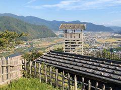 上山田温泉でサイクリング その6 サイクリングを終えて上山田温泉にゆっくり浸かり、車で荒砥城へ。