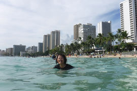 ハワイ旅行記2019 9月2日 ワイキキビーチで海水浴編