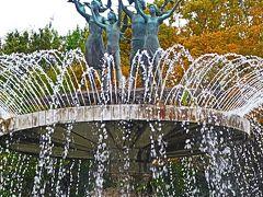 昭和記念公園10 造形噴水/カナール 西洋庭園一巡 ☆イチョウ並木-色づきはじめ