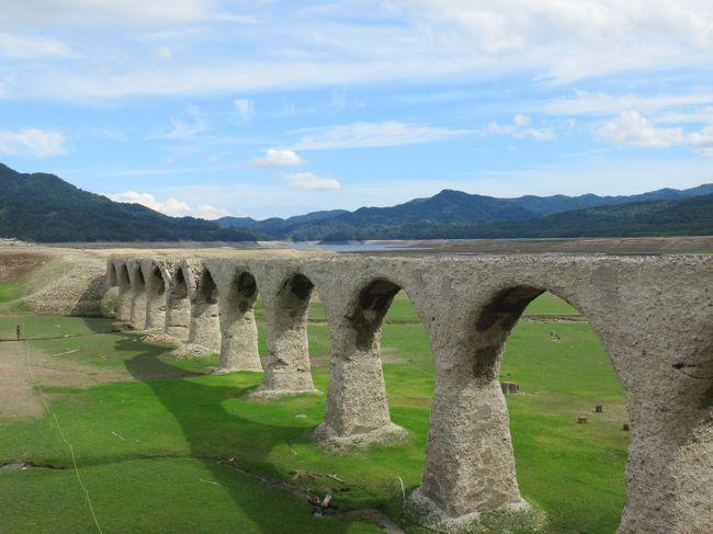 水不足で、いつもは見られないタウシュベツ川橋梁が見れると聞き、行ってきました。