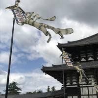 東大寺・盧舎那仏造顕発願慶讃法要献茶式と二月堂・三月堂・春日大社を草履で13000歩・疲れました。