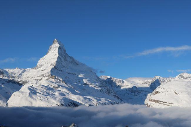 サラリーマンでも行けるスイス(スネガエクスプレスで雲海に浮かぶマッターホルンに行く 2/10朝)Ⅵ