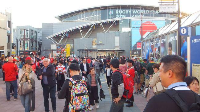 ラグビーワールドカップ<br />3位決定戦 ニュージーランドvsウェールズ<br />東京スタジアムが近くなので、<br />会場外の雰囲気を感じてみた!
