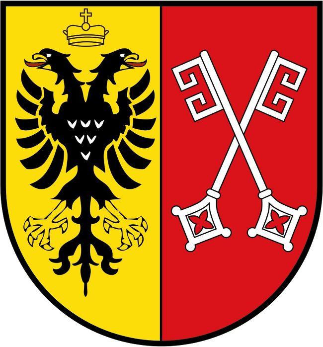 ドイツの町々の紋章はお好きでしょうか?<br />実は私は紋章のデザインやその謂れを知るのが好きで、毎年の旅の写真集に訪れた町の紋章をコピーし、わざわざ紋章の項を作っています。<br />時々、旅行記で紋章を掲載しますから、目を留めた方もおられると思います。<br /><br />さて、先日、ちゃたろうさんから「帝国自由都市だった町の古い建物に帝国自由都市の紋章が残っていて、見ることができるか」とのご質問でした。<br />見た事があるような、ないような・・・正確な意味ではアルバムを見ても分からないでしょう。紋章にフォーカスしていないので・・・と、回答しましたが、丁度、帝国自由都市やハンザ同盟都市を訪れた旅をしてきましたので、改めて調べてみる気になりました。<br /><br />以下は、私の「ドイツ様々」といったファイルに入れた纏めです。<br />ご参考に本項に載せました。<br /><br />写真はMindenミンデンの紋章・・・この町にはSchlacht bei Mindenミンデンの戦いと米国国歌誕生の逸話があります。