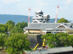 新ホテル&新商業施設目的 熊本市1泊2日旅【熊本市役所14F展望ロビーから見た熊本城など編】
