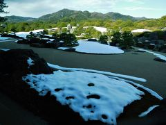 2019年1月1日 その2 島根県 足立美術館 庭に一部雪が残っていました。