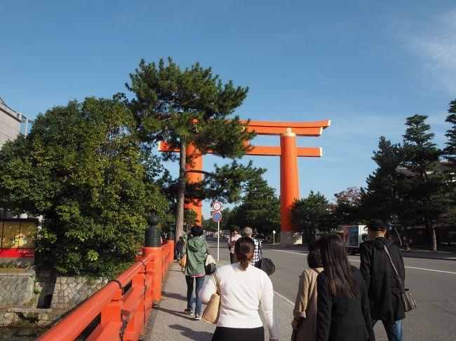 文化の日をはさんだ連休に京都を訪れました。<br />今回は京都国近代美術館で行われている丸山応挙展を観ます。<br />まだ京都は初秋。紅葉はほんの少しです。