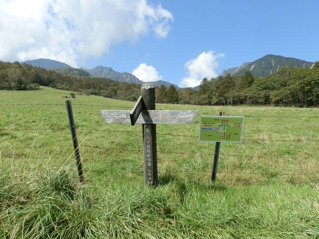 八ヶ岳南山麓・清里高原、その興りは牧場だった。その歴史は大正15年(1924年)に遡る。県有地を借用して馬の放牧を始めたことが始まりで、開場以来90年以上の歴史を持っているという。ポール・ラッシュが1938年に清泉寮を建設したのは昭和13(1938)年。<br /> 八ヶ岳南麓の標高1100~1700mの高原に広がる八ヶ岳牧場。八ヶ岳牧場の一部を開放して造られた「山梨県立まきば公園」。そして、美しい八ヶ岳を仰ぎながら八ヶ岳横断歩道をハイキングしてみました。<br />