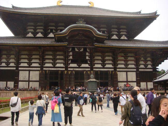 今日は文化の日。同行の皆さんに聞いてみた。「奈良の思い出は?」に「修学旅行」が圧倒的な返事。この地で忘れていたものを思いだした。祝日の国旗掲揚である。以前のレポートで「京都は賑やか、奈良は閑散」との記事を引用したが、今日は人で溢れている奈良。多くの国宝や重要文化財を拝見して、古に想いを馳せ奈良公園のウオーキングで過ごした。帰りのバスでは恒例のビンゴゲーム。見事に3連敗。良き文化の日であった。