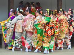 西陣きもの・帯フェスティバル(京小町踊り子隊)(4)