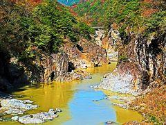 龍王峡-2 竪琴の滝-虹見橋-虹見の滝あたり ☆右岸遊歩道⇒むささび橋へ