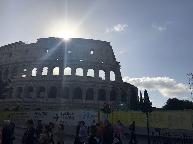 10月16日水曜日 7日目<br /><br />7時 チビタベッキア入港<br />7:30少し早めに集合後下船<br />ローマへバスで1.5ー2H<br />現地ガイドは珍しく 日本語上手なガイドさんで<br />早足で さっと見てきました。<br />トレビの泉はもっと広いところかと想像してましたが...到着時は水も出てなくびっくり!<br />よかったぁ 噴水出してくれて...<br /><br />以前いらした方が スペイン広場の近くで<br />安くてステキなバックGetしてました<br />イタリア不景気でお金落としてって~ってガイドさんが言ってましたが さすが本場 革製品安いなぁ<br />革好きはたまらーん<br /> ショッピング時間もなく残念<br /><br /><br />