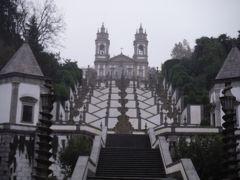 2019年10~11月虹が輝く雨季のポルトガル縦断横断6・ブラガ巡礼教会に水で登り快晴のポルトに戻る