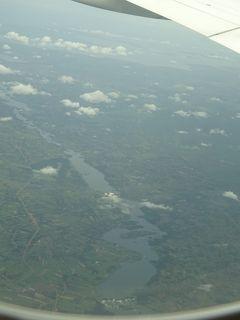 (46)2020年3月南部アフリカ6か国15日間(1)入国禁止のウガンダ(ブジャガリ滝 ジンジャ カンパラ ビクトリア湖上空)