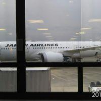 JL-407便で成田→フランクフルト!(^^)!出張でドイツ・イタリア