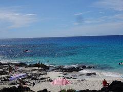 中1ヶ月でまたハワイ 今度はハワイ島(その10:うまいハンバーガー、ビールの銘柄にもなった美しきビーチとJALキャンペーンCMのロケ地)