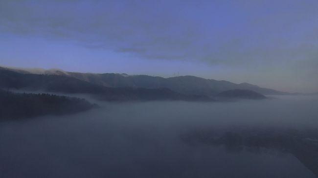 【絶景~空撮】神秘的な朝霧の琵琶湖~滋賀県、春旅2019年4月