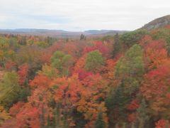錦秋のカナダ・メープル街道を行く(6) 燃えるような紅葉に染まるアガワ溪谷