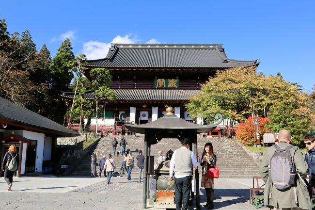 日光山輪王寺は、日光山中にある15の寺院の総称で、「日光の社寺」として世界遺産に登録されています。約1,250年前に勝道上人が四本龍寺を建て、開山したのが始まりで、天台宗の門跡寺院として、日光山全体を統合していました。<br /><br />日光三山の本地仏を祀るお堂「三仏堂」は、日光山最大の規模を誇る木造建造物です。千手観音(男体山、新宮権現、大己貴命)・阿弥陀如来(女峰山、滝尾権現、田心姫命)・馬頭観音(太郎山、本宮権現、味耜高彦根命)」の三体の仏像が安置されています。<br /><br />日光山輪王寺大猷院は、三代将軍徳川家光の霊廟です。大猷院(たいゆういん)とは家光の法号のことで、祖父である徳川家康を心から深く尊敬していた家光の、「死後も家康に仕える」という遺言により、四代将軍徳川家綱によって建造されています。