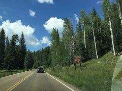 アリゾナ州 グランド キャニオン  ノース - 帰りのドライブの風景