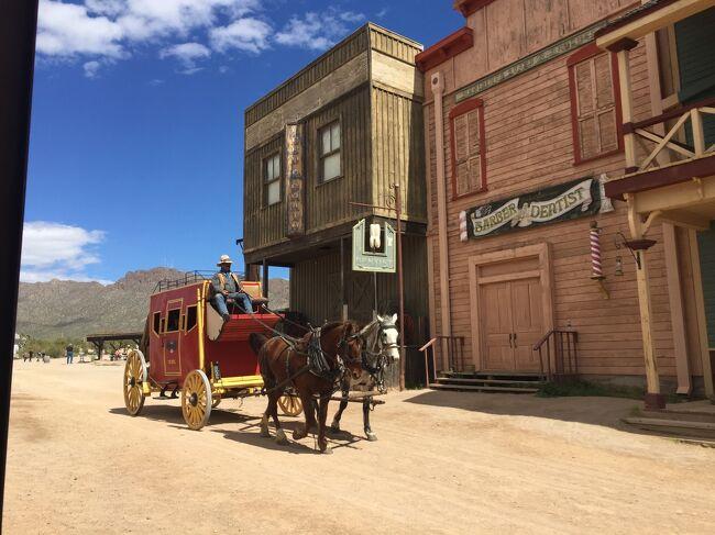 OK牧場の決闘の撮影地で、今も映画やテレビの撮影で使われる西部劇のテーマパーク。大人一人19.95ドルでした。<br />