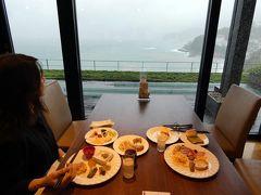 台風19号接近中のHVC熱海伊豆山&VIALA1泊 ブッフェ オリーヴァの朝食その2 スイーツなど 私の朝食 避難勧告が出てチェックアウト