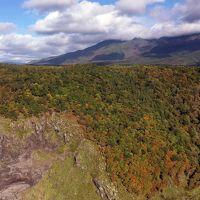 世界遺産・知床公園線の断崖絶壁