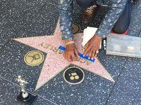 ハリウッド散策、サンタモニカでサンセット