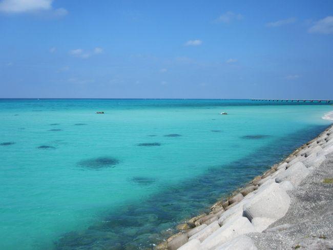11月初旬、まだ夏の気配残る宮古島に行ってきました。<br />この旅のメインイベントは3日目の宮古島マラソン!<br />それ以外はのんびりと観光をして過ごしました。<br /><br />このvol.2は2日目の内容です。<br />下地島空港17エンドでは、信じられないほど青い海を見ることができました。<br />この日は下地島にいるときだけ青空が広がり、他はずっとくもり空だったので、タイトルの「奇跡の青」は空と海の両方を指しています(^―^) <br /><br />【登場人物】<br />★ワタシ<br /> …運動オンチなにわかランナー。今回のマラソンでは10kmに挑戦。<br />★ted<br /> …プーさんの次に有名なくまさん。生意気だけどワタシの旅には欠かせない同行者。<br />★Kちゃん<br /> …フルマラソンは今回が3回目。翌週に横浜マラソンを控えているので、宮古はファンラン♪