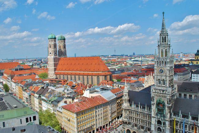 夢のような2019年のGWの10連休。<br />これは…遠くに行くしかないだろう!!ということで、夫婦でドイツ旅行をすることに。<br />ゆっくりしたかったので、南のミュンヘンを拠点にまわることにしました。<br />航空券とホテルをおさえ、今回初めて個人旅行に挑戦です。<br />2人ともほとんど英語は話せませんが、まぁ何とかなるやろと(笑)<br /><br /><br />4日目は観光最終日。拠点にしていたミュンヘンの街歩きです。<br />そして帰国…