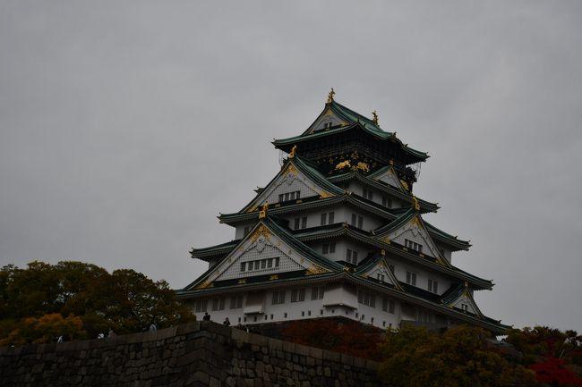 京阪電車天満橋駅か環状線大阪城公園駅が最寄り駅です。戦後の再建でも、立派な天守閣です。周辺には現代的高層建築も増えましたが、それでも周囲を睥睨しているかのようです。紅葉の季節、御堂筋と同じように銀杏の黄葉も目立ちます。その分、観光客も多いという気がします。