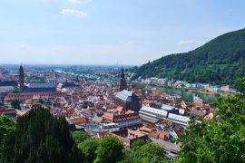 スイス3大明峰とロマンティック街道の旅 10.睡魔と闘いながら歩いたハイデルベルク
