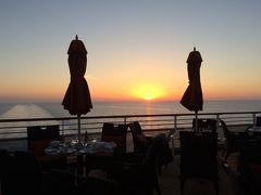 オーシャニア・リビエラ地中海クルーズvol.32 リビエラの終日航海☆テラス・カフェの夕陽とフェアウェルパーティ♪