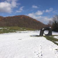 雪原の彫刻、雪の階段