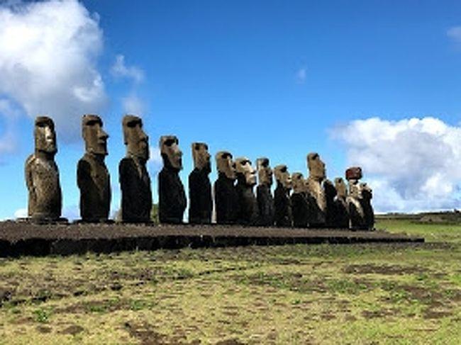 3泊4日でイースター島に。南米のハワイと称されるイースター島を満喫してきました。皆がいく通常の観光編です。<br /><br />①タハイ儀式村 目があるモアイがあるとこr<br />②アフ・アキビ 海を見つめる7体の王子モアイ<br />③Puna Pau ぷかお(モアイの帽子)製作所<br />④アフ フリ ア ウレンガ 私有地モアイ<br />⑤Te pito Kura パワースポット<br />⑥Tongariki 一番有名な15体のモアイ<br />⑦ラノ・ララク モアイ製作所 その名の通りモアイ製作所<br />⑧アナケナビーチ モアイもみれるビーチ