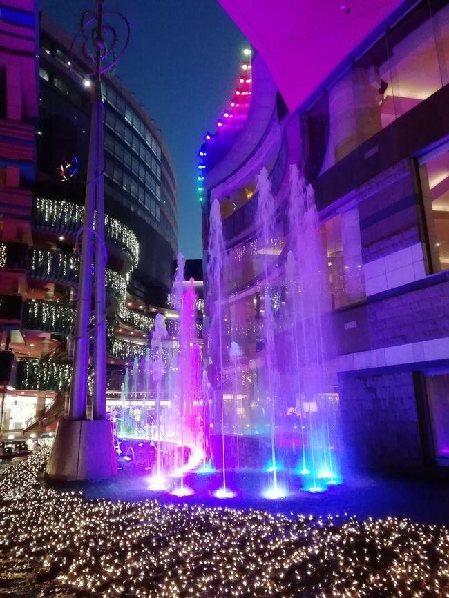 ひさびさの福岡でクリスマスイルミネーション<br /><br />