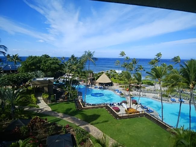 ホノルルで遊んだあとは、ハワイ島に渡りワイコロアヒルトンホテルを拠点にあちこち回りました