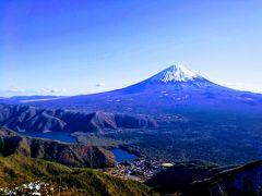 富士山展望♪御坂山塊縦走(黒岳~王岳)