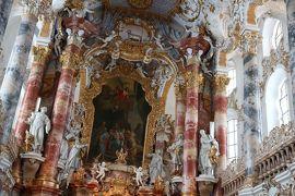 サラリーマンでも行けるドイツ(さすが世界遺産!!雪原の超絶メルヘンなヴィース教会を見てから帰ります2/13~2/14)ⅩⅦ