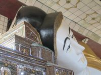 ミャンマー 「行った所・見た所」 バゴーの観光(王宮発掘現場と博物館・シュエターリャウン寝仏)